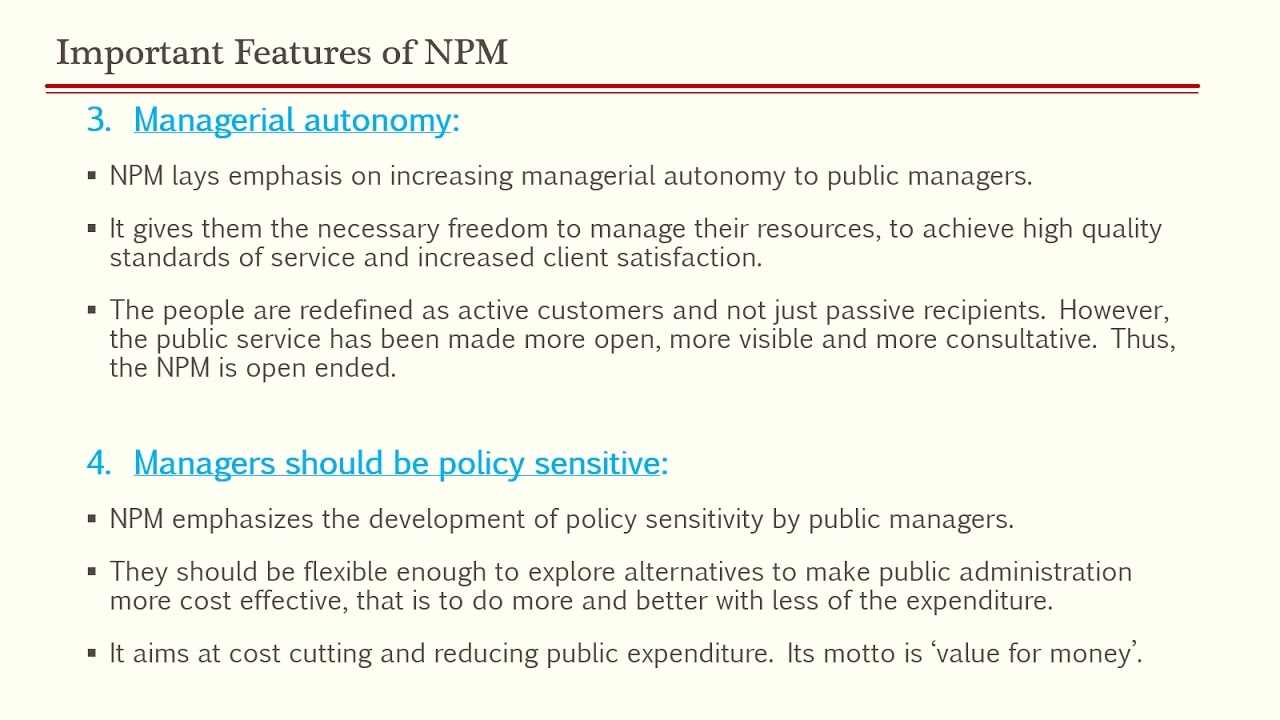 New Public Management Npm Upsc Public Administration Paper  By Ashish