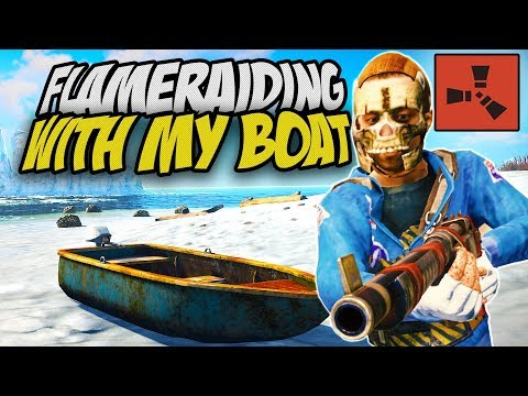 RAIDING BASES on the COASTLINE with MY BOAT! - Rust Solo Survival Gameplay