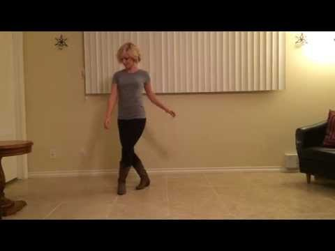 Kick The Dust Up Line Dance -  Instuction and Demo by KristalLynnDance