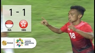 Download Video Goal Irfan Jaya - Sepak Bola Putra Indonesia (1) vs (1) Hong Kong, China | Asian Games 2018 MP3 3GP MP4