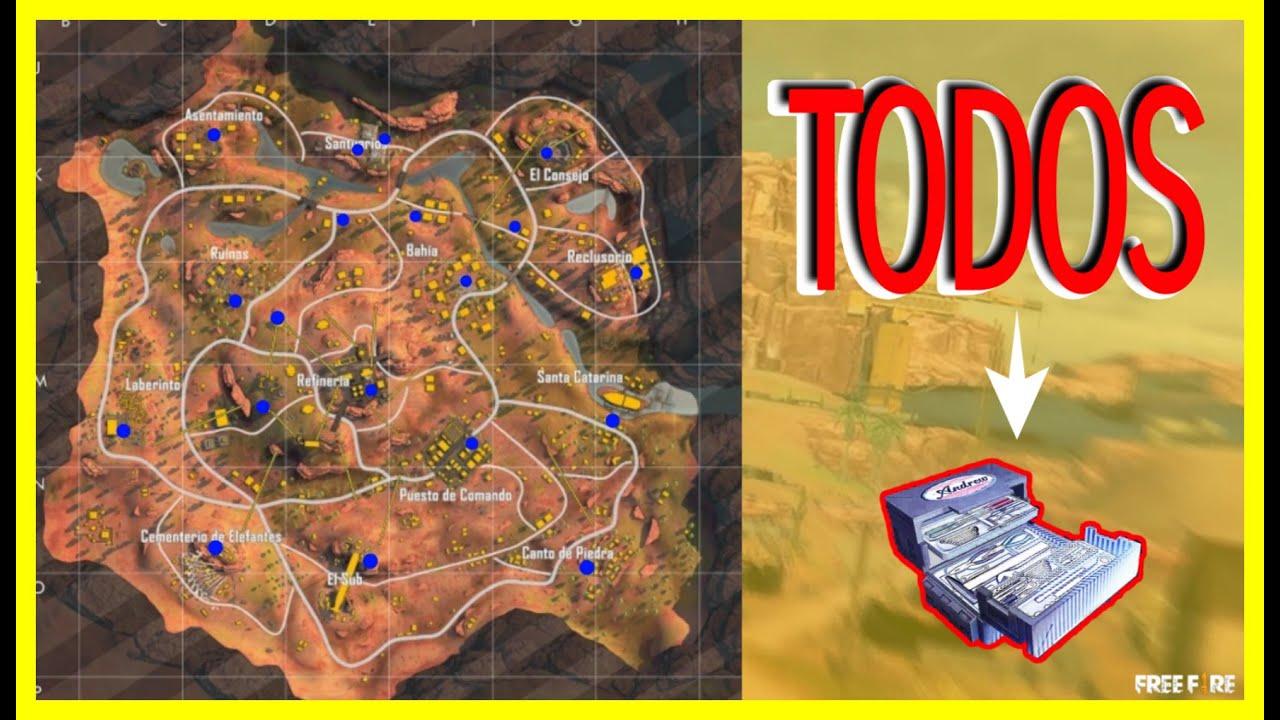 Ubicación exacta de todos los reparadores del mapa de kalahari // Free fire