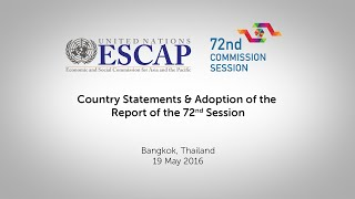 CS72: Country Statements & Adoption of the Report