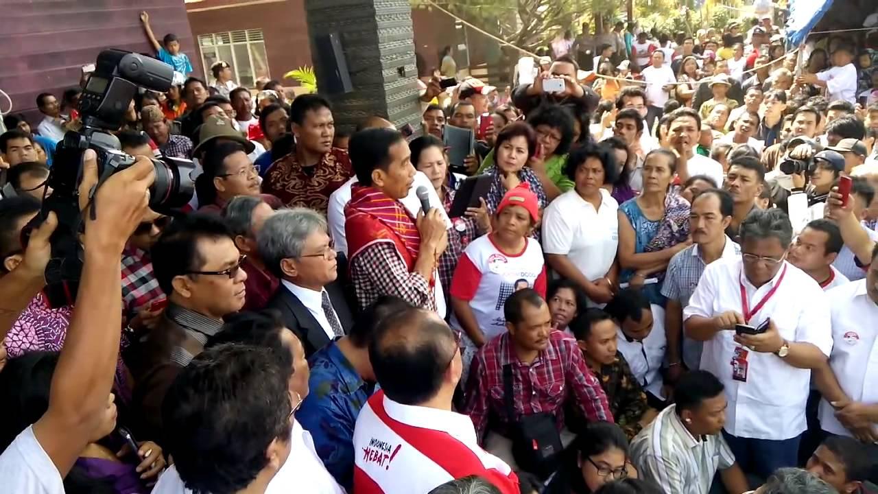 FULL Jokowi di Penampungan Sinabung Medan
