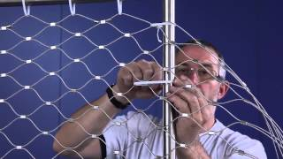 Jakob Rope Systems - Trim a side of wire net instructions