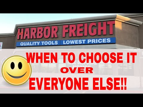 When to go to Harbor Freight over any other Tool Store in the Universe