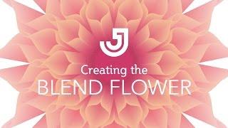 Blend Flower Illustrator Tutorial