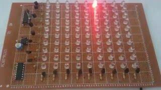 81 LED chaser using double IC 4017 نشرة ضوئية جميلة