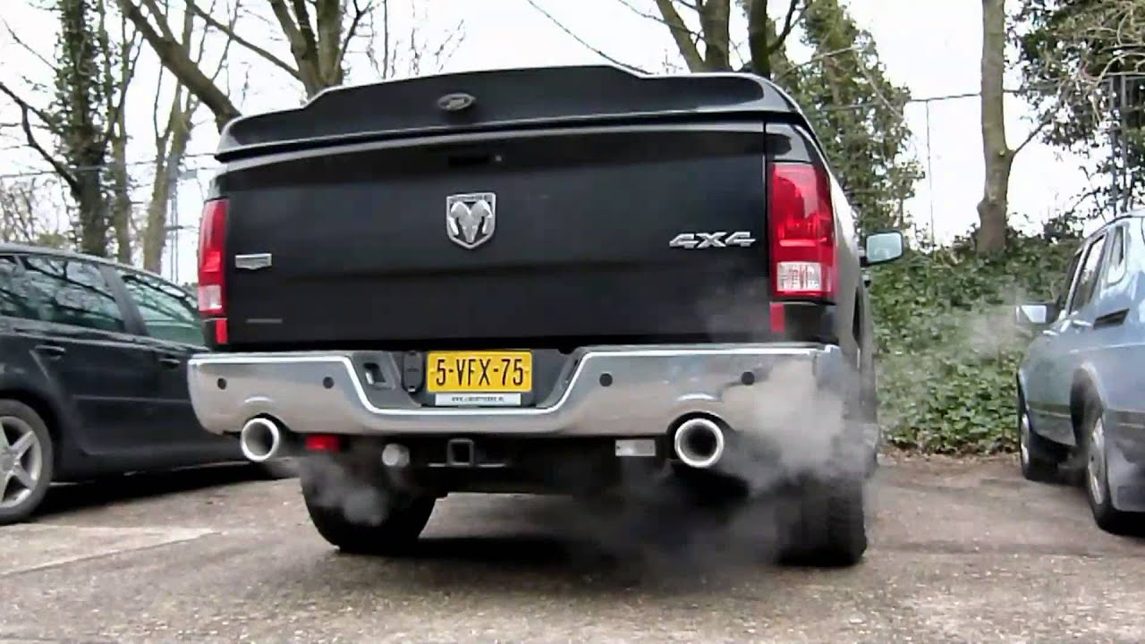 2010 Dodge Ram 1500 5 7 Hemi Met Cut Out En Rvs Eindsierstukken Van Eps Uitlaten Bv Youtube