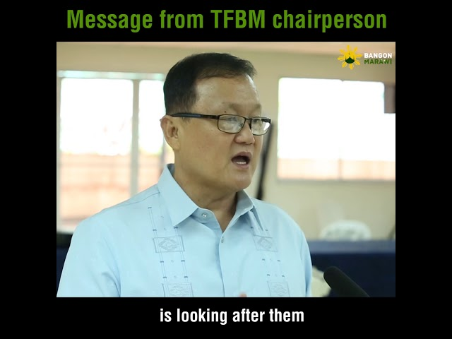 Message from TFBM chairperson