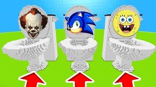 Minecraft PE : DO NOT CHOOSE THE WRONG TOILET! (Pennywise, Sonic, Spongebob & Bendy)