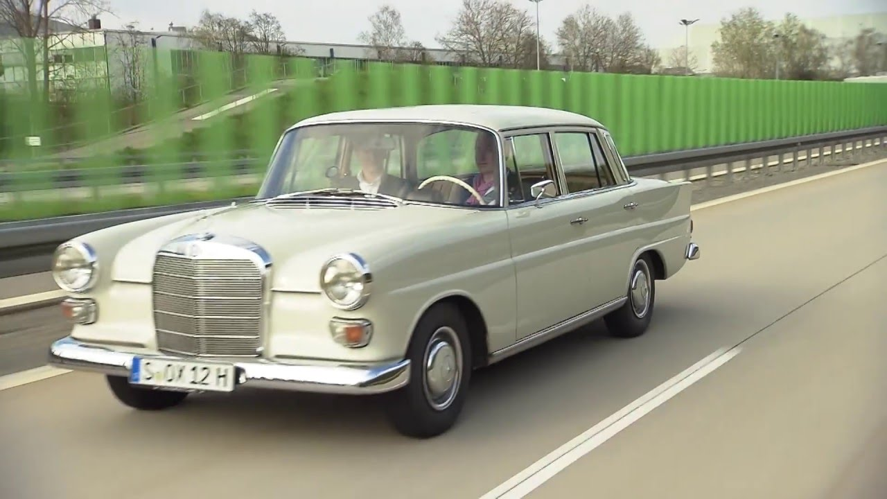 Mercedes benz 200 fintail w 110 1965 youtube for Mercedes benz 200