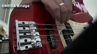 Omega Bass Bridge (Badass II) VS Fender High Mass Bridge Comparison