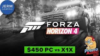 PC vs Xbox One X - Forza Horizon 4!