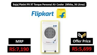 Bajaj Platini PX 97 Torque Personal Air Cooler (White, 36 Litres)