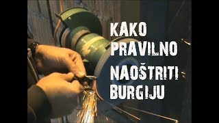 Kako pravilno naoštriti burgiju (How to sharpen drill - Serbian)