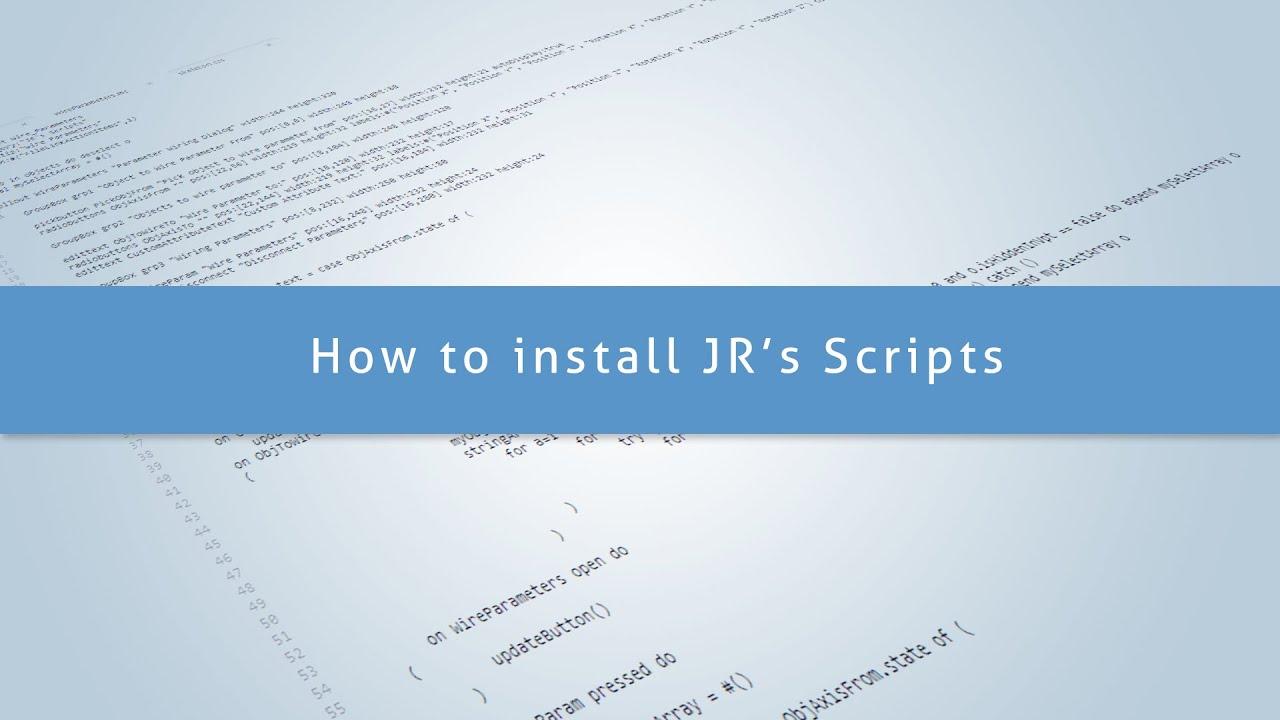 3Ds Max - How to install my scripts - Самые лучшие видео