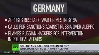 Guilty by Association  Politicians call for Berlin to put sanctions on  Russia over Aleppo