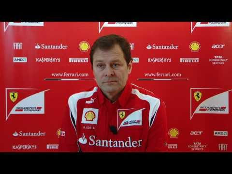 Aldo Costa on the Ferrari F150