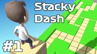 Stacky Dash - Stack and dash! Gameplay Walkthrough Android iOS Part 1