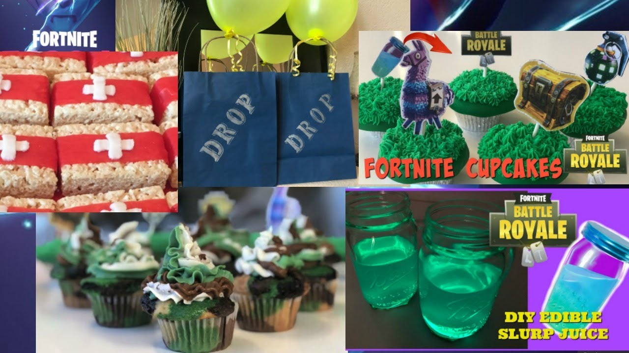 5 DIY Fortnite Party Ideas I DIY I How to Cook Craft ...