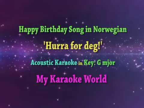 Norwegian Happy Birthday Song Karaoke In G Major Youtube