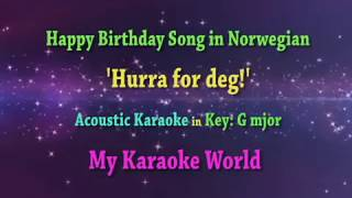 Norwegian Happy Birthday song - Karaoke in G major