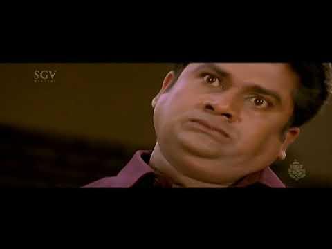 Rangayana Raghu Comedy - Rangayana Raghu Gets A Shock Of His Life Comedy | Chellata Kannada Movie