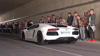 Supercars Revving in Tunnel - Aventador, RS6, GT-R & More!
