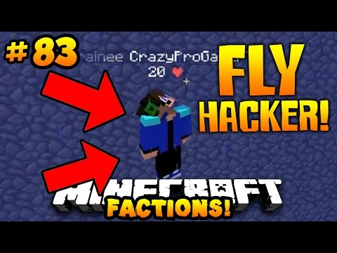 "Minecraft FACTIONS VERSUS ""FLY HACKER CAUGHT!!"" #83 w/ PrestonPlayz"