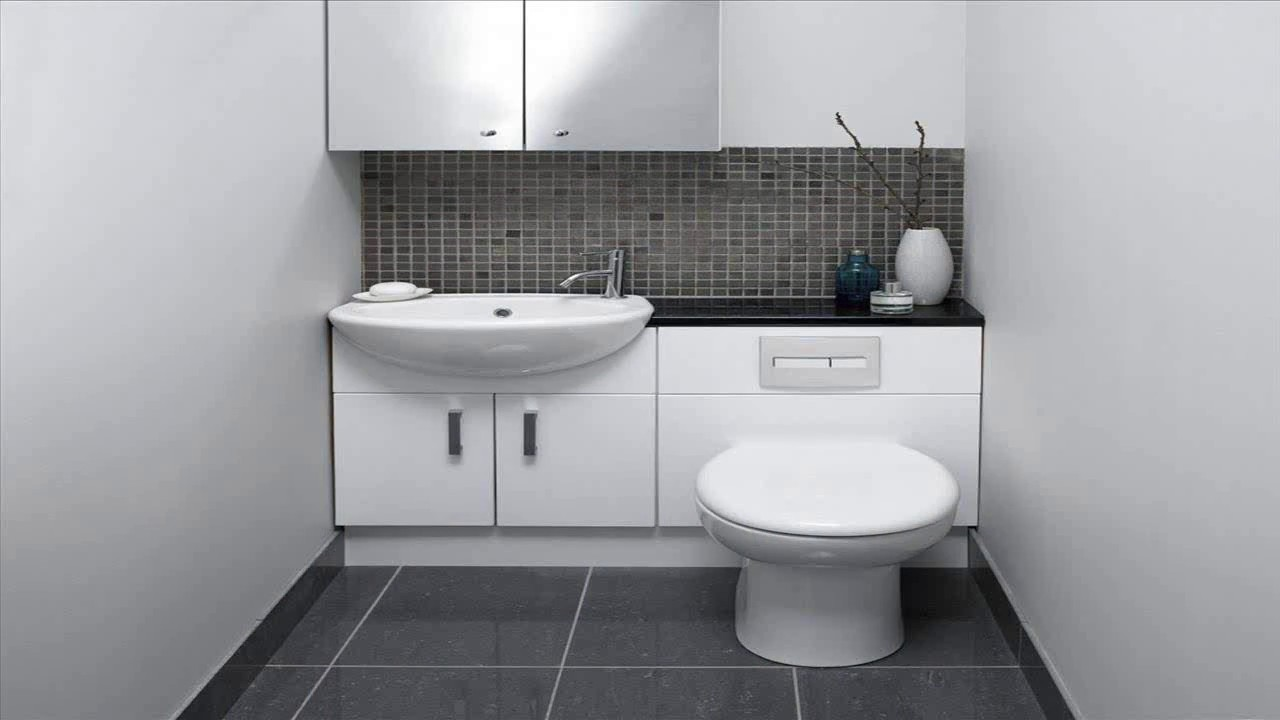 Small Bathroom Big Tiles - YouTube
