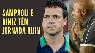 Santos de Sampaoli e Flu de Diniz jogam mal, para deleite dos defensores do mau futebol