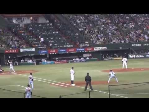 2014年5月20日 西武vs巨人 第1回戦 坂本選手通算1000本安打