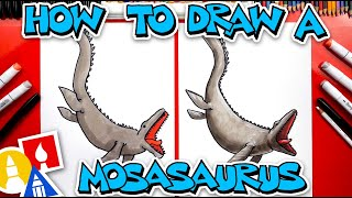 How To Draw A Mosasaurus Dinosaur