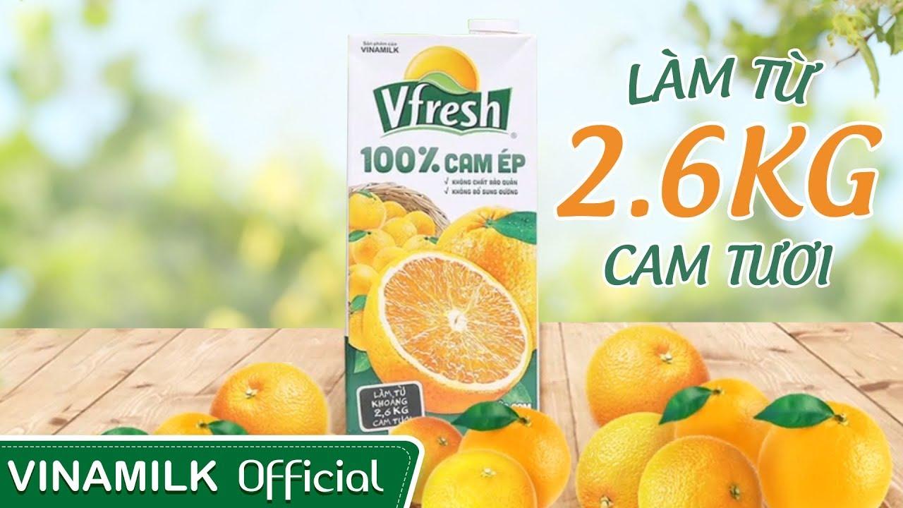 Quảng cáo Vinamilk – Nước cam ép 100% Vfresh nguyên chất