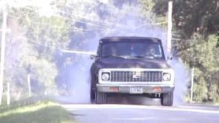 1971 Chevy truck burnout - Codi Williams