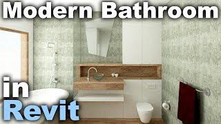 Modern Bathroom Interior Design in Revit Tutorial