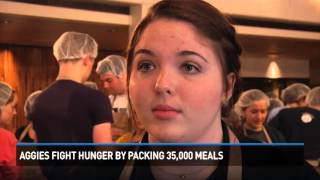 TAMU students pack 35,000 meals to help fight hunger
