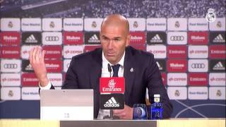 Declaraciones de Zidane tras vencer al Leganés