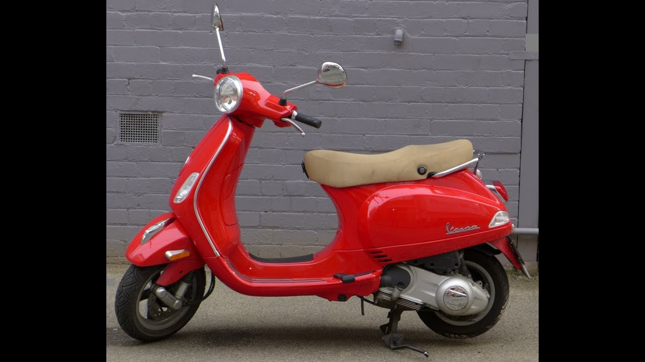 Scooter With A Sidecar Vespa LX 150 ie red colour Scooter Motorcycle - YouTube