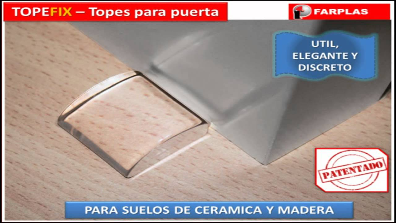 3 farplas video topefix topes transparentes para puertas - Topes para puertas ...