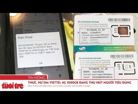Thực, Hư Sim Viettel 4G 1000GB đang Thu Hút Người Tiêu Dùng