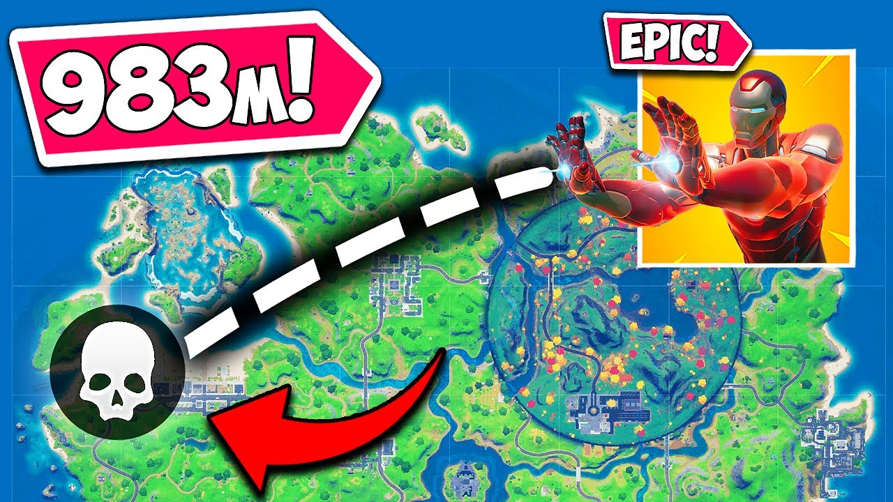 *WORLD RECORD* LONGEST ELIMINATION EVER!! (983M) - Fortnite Funny Fails and WTF Moments! #1080