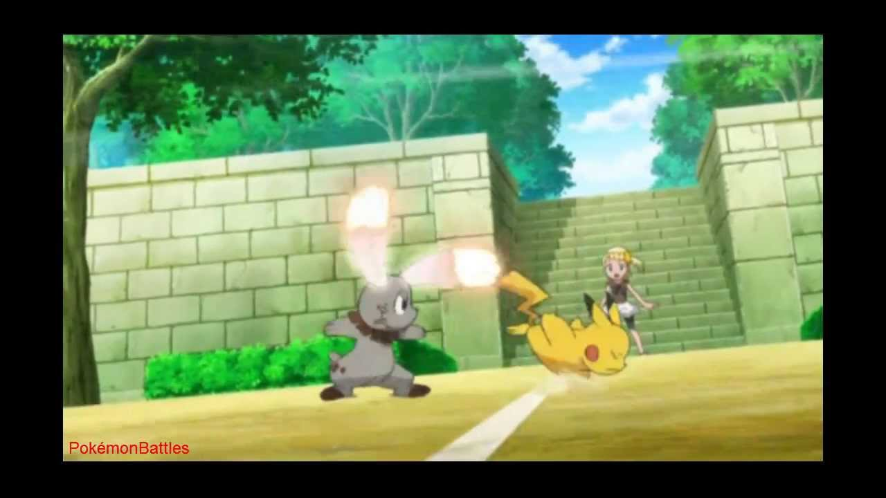 Pokémon XY Episode 67 : Lumiose Gym Battle! Pikachu VS
