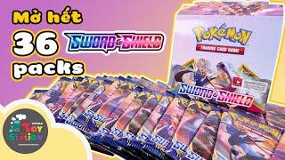 Mở full 36 packs Pokemon TCG Sword and Shield trong một tập ToyStation 516