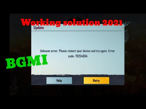 BGMI Unknown Error: Please Restart Your Device And Try Again. Error Code 70254604