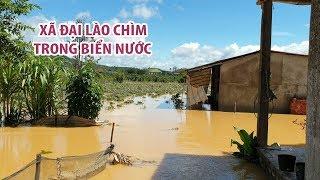 Lũ kinh hoàng khiến xã Đại Lào ở TP Bảo Lộc chìm trong biển nước