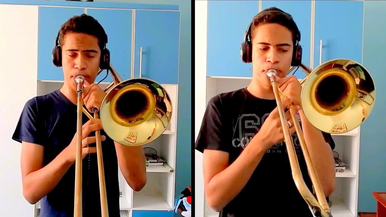 cover gospel de trombone de vara vim para adorar te quatro por umtrombonista esdras banda vim de lounge