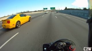 Yamaha R6 doing 148 mph on Highway