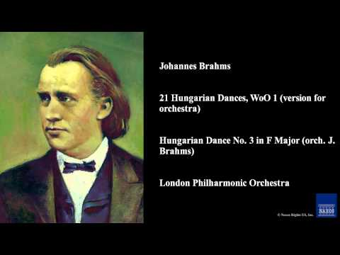 Johannes Brahms, 21 Hungarian Dances, WoO 1 (version for orchestra)