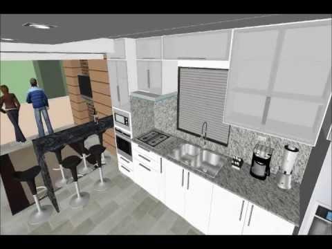 Dise o de cielo raso y cocina youtube for Figuras en drywall para cocinas